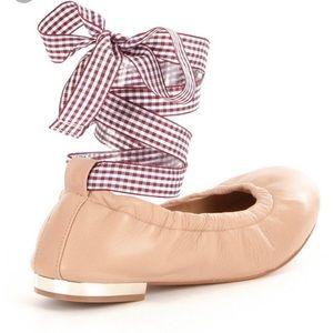 Gianni Bini Ballet Flat Style Linet Dark Beige Size 8